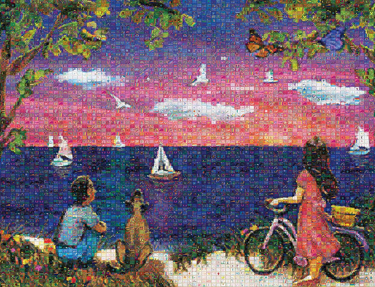 A Closer Look at a JDRF Mosaic Mural